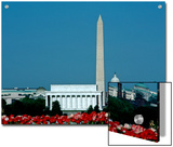 Scenic View of Washington D.C. Monuments, Washington, D.C. Posters by Kenneth Garrett
