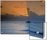 Shrimp Boat in the Gulf of Mexico at Sunset Prints by Kenneth Garrett