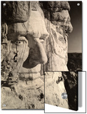 The Face of Abraham Lincoln At Mount Rushmore Posters by Charles D'Emery