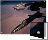 An X-15 rocket plane drops free of a B-52 Prints by Dean Conger