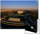 Aerial View of Lincoln Memorial and Memorial Bridge, Washington, D.C. Posters by Kenneth Garrett