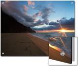 Sunset over Kalalau Beach in Na Pali Coast State Park Prints by Diane & Len Cook & Jenshel