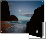 The Moon Silvers the Waves Washing Kalalau Beach Posters by Diane & Len Cook & Jenshel