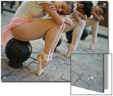 Classical Ballerinas from the Cuba National Ballet at the Malecon Print by Kike Calvo