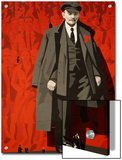A Mural of Lenin Towers over a Leningrad Square Prints by Dick Durrance