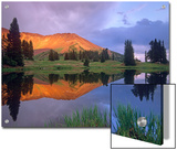 Mount Baldy at Sunset Reflected in Lake Along Paradise Divide, Colorado Posters by Tim Fitzharris/Minden Pictures