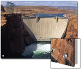 Water is Released Below the Glen Canyon Dam on the Colorado River Print by Bill Hatcher