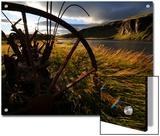Old Piece of Farm Equipment in a Field Along a Waterway Prints by Mattias Klum