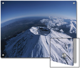 Aerial, Wide-Angle View of Mt. Fuji's Crater Posters by Karen Kasmauski