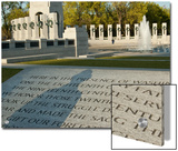 The World War II Memorial with the Shadow of a WWII Veteran Prints by Karen Kasmauski