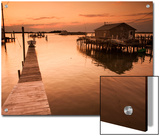 Docks and Boathouses in Tylerton on Smith Island, Chesapeake Bay Prints by Aaron Huey