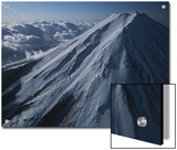 An Aerial View of a Snow-Covered Mt. Fuji Print by Karen Kasmauski
