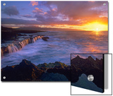 Sunset at Shark's Cove, Oahu, Hawaii Posters by Tim Fitzharris/Minden Pictures