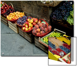 Assorted Fresh Fruits of Berries for Sale at a Siena Market, Tuscany, Italy Art by Todd Gipstein