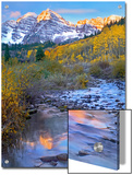Maroon Bells and Maroon Creek, Colorado Posters by Tim Fitzharris/Minden Pictures