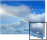 Rainbow in a Cloudy Sky, Hawaii Prints by Stacy Gold