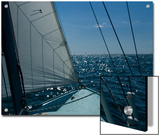 Bow of a Sailboat under Sail on the Thames River Prints by Todd Gipstein