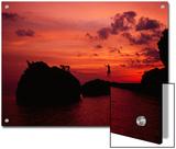 Small Group Slacklining over the Andaman Sea at Sunset Prints by Dawn Kish