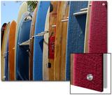 Row of Surfboards, Waikiki Beach, Hawaii Print by Stacy Gold