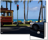 Street Scene at Waikiki Beach, Hololulu, Hawaii Posters by Stacy Gold