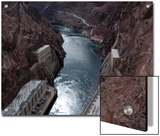 Hoover Dam's Power Substations Along the Colorado River Posters by Stacy Gold