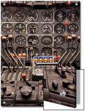 Cockpit and Engine Controls of a Boeing 707 Posters by  Greg