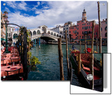 The Rialto Bridge and Gondolas on the Grand Canal in Venice Prints by Chris Hill