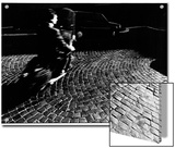A Man on a Moped Speeding over Cobblestones in Rome Prints by Chris Hill