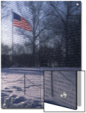 American Flag Reflected in the Vietnam Memorial, Washington, D.C. Prints by Stacy Gold
