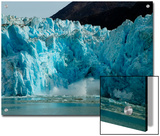 Blue Ice Calving Along Glacier Front of South Sawyer Glacier, Alaska Prints by Ralph Lee Hopkins
