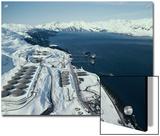 Tanker Loading at Valdez Terminal of the Trans-Alaska Pipeline Prints by George Herben
