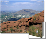 View Overlooking Phoenix, Arizona from Camelback Mountain Posters by Stacy Gold