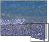 Small Wave Ripples Onto Shore, Holmes Beach, Florida Print by Stacy Gold