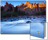 The Crooked River Runs Through Smith Rock State Park Print by Michael Melford