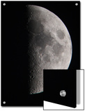 Waxing First Quarter of the Moon Showing Lunar Highlands and the Mare Art by Steve & Donna O'Meara