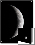 Waxing Crescent Moon Showing Mare Crisium Large Dark Sea on the Right Prints by Steve & Donna O'Meara