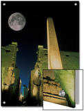 Moonrise over Luxor Complex in Luxor, Egypt Posters by Richard Nowitz