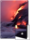 Steam Fills the Air as Water Meets Lava Flow Posters by Steve & Donna O'Meara