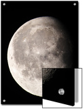 Waning Gibbous Moon Shows Lunar Highlands, Tycho and Copernicus Craters Print by Steve & Donna O'Meara