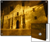 Night Time-Exposed Zoom Gives Haunting View of Texas' Historic Alamo Prints by Stephen St. John