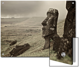 Moai on a Hill on Easter Island Posters by Jim Richardson