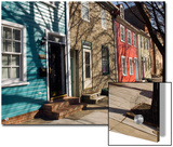 Colorful Houses on South Ann Street in the Fell's Point Neighborhood Prints by Krista Rossow