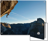 Without a Rope, a Climber Scales a Route on Glacier Point Called Heaven Prints by Mikey Schaefer