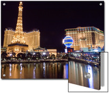 Reflections of Las Vegas Boulevard, the Strip, and the Paris Casino Prints by Rich Reid