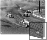 Race Cars Roar around the Track at the Iowa State Fair in 1938 Prints by J. Baylor Roberts