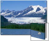 Mendenhall Lake, Mendenhall Towers, Glacier and Mount Wrather, Alaska Poster by Rich Reid