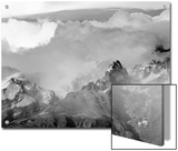 Sheer Peaks of Fitzroy Massif with Snow, Glaciers and Cumulus Clouds Posters by John Eastcott & Yva Momatiuk