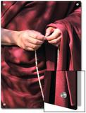 The Dalai Lama with Mala Prayer Beads Prints by Alison Wright