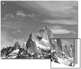Spectacular Peaks of Fitzroy Massif with Snow, Glaciers and Clouds Posters by John Eastcott & Yva Momatiuk