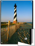 Cape Hatteras Lighthouse with Surrounding Sand Fence Poster by Steve Winter